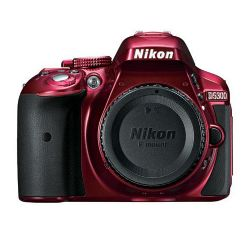 Nikon D5300 DSLR Camera (Body Only, Red)