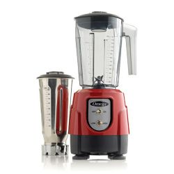 BL390R 1-HP Blender, Tritan Copolyester and Stainless Steel Container Combo Pack, Red