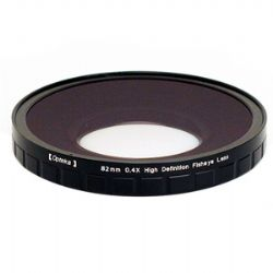 OPT824PF 82mm 0.4X HD2 Large Element Pro Fisheye Lens for Professional Video Camcorders
