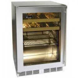 "Signature Series HP24BO3L 24"" Stainless Beverage Center with Stainless Steel Glass Door - Left Hinge"