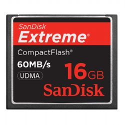 16GB Extreme Compact Flash Card (60MB/s)