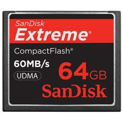 Extreme 64GB CompactFlash (CF) Card - 60 MBps Read - 60 MBps Write