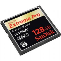 128GB ExtremePRO CompactFlash Card - up to 160MB/sec Transfer Speed, RTL AM (VPG-65)