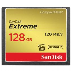 128GB Extreme Compact Flash Memory Card, - Transfer speed up to 120MB/s