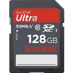 128GB Class 10, Ultra SDXC UHS-I Memory Card, 30 MB/s Read Speed