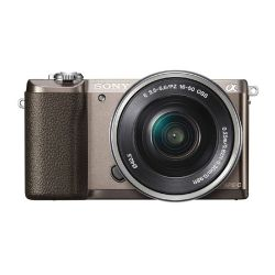 Sony -alpha a5100 Mirrorless Digital Camera with 16-50mm Lens Tan