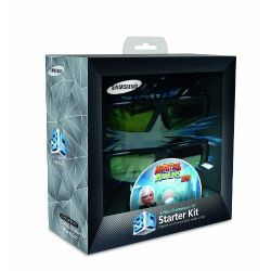 3D Starter Kit - Two pairs of active 3D glasses and a 3D blu-ray disc Monsters Vs. Aliens 3D Movie