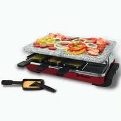KF-77045-  Classic 8 Person Grill with Granite Stone- Red