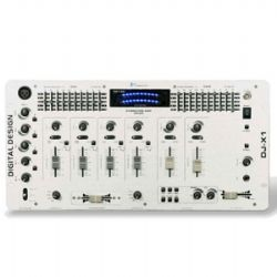 DJ-X1  Professional 4 Channel Mixer w/6 effects - Silver