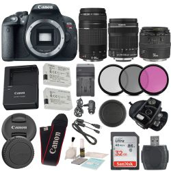 Canon Eos Rebel T5i Body EF-S 18-135mm f/3.5-5.6 IS STM Lens, Bundle