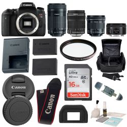 Canon EOS Rebel T6S DSLR 18-135mm f/3.5-5.6 IS STM Lens Bundle