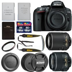 Nikon D5300 DX Format Digital SLR Camera Body, Bundle
