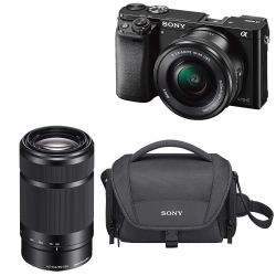 Sony Alpha A6000 Mirrorless Digital Camera with 16-50mm Lens (Black) 55-210mm