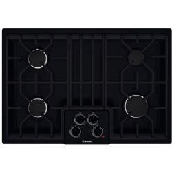 "Bosch 30"" Gas Cooktop with 4 Sealed Burners Black"