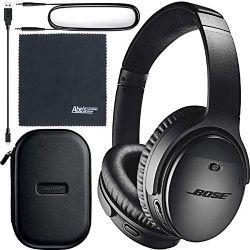 Bose QuietComfort 35 Series II Wireless Noise-Canceling Headphones (Black) (789564-0010) + AOM Bundle