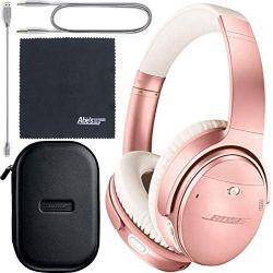 Bose QuietComfort 35 Series II Wireless Noise-Canceling Headphones (Rose Gold) (789564-0050) + AOM Bundle: International Version (1 Year AOM Warranty)
