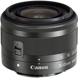 Canon EF-M Zoom Lens for Canon EF-M - 15mm-45mm - F/3.5-6.3 Graphite