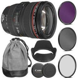 Canon EF 24-105mm f/4L IS USM Lens Deluxe Kit