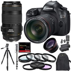 Canon EOS 5DS R 24-70mm f/2.8 70-300mm 128GB CF Pro Combo