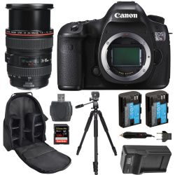 Canon EOS 5DS R Body W/ EF 24-105mm f/4L IS USM Lens 128GB Pro Kit