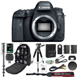 Canon EOS 6D Mark II Digital SLR Camera With Wifi Body Only Deluxe Bundle