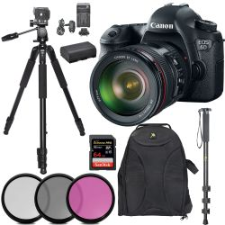 Canon EOS 6D Body W/ 24-105mm Tripod 64GB Kit