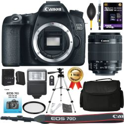 Canon EOS 70D Camera: with EF-S 18-55mm f/3.5-5.6 is STM Lens