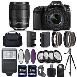 Canon EOS 80D Digital SLR Camera + 18-135mm Bundle