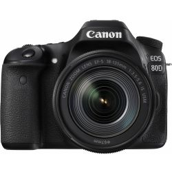 Canon EOS 80D DSLR with 18-135mm IS Lens