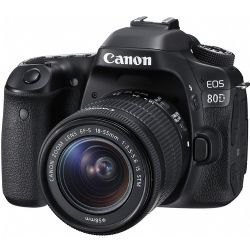 Canon EOS 80D 24.2 MP SLR - EF-S 18-55mm IS STM Lens