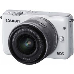 Canon EOS M10 Mirrorless Digital with 15-45mm Lens (White)