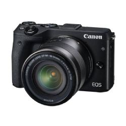 Canon EOS M3 Mirrorless with EF-M 18-55mm IS STM lens Black