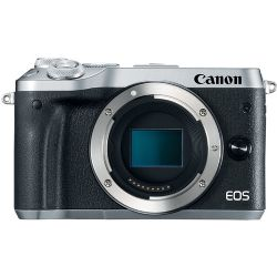 Canon EOS M6 24.2 MP Mirrorless Camera - 1080p - Silver - Body Only