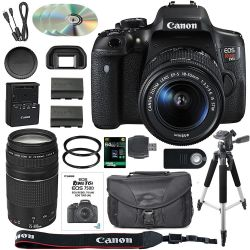 Canon EOS Rebel T6i / 750D DSLR Camera Bundle with Canon EF-S kit