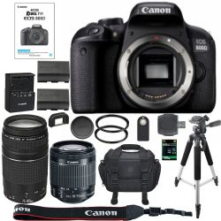Canon EOS Rebel T7i DSLR Camera + 64GB SDXC Memory Card Bundle