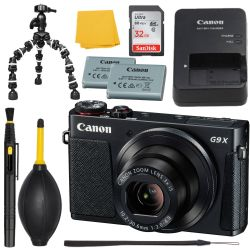 Canon G9 X 20.2 MP Compact Digital Camera - 1080p - Black +MORE