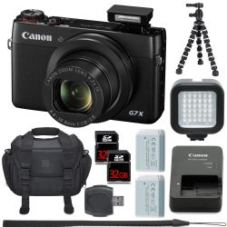 Canon PowerShot G7 X and 2x Batteries, 64GB, LED, Tripod & more!