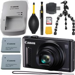 Canon PowerShot SX610 HS 20.2 MP Black  + MORE
