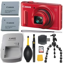 Canon PowerShot SX610 HS 20.2 MP Camera - Red  + MORE