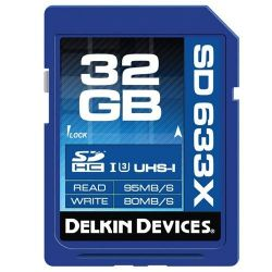 Delkin Devices 32GB 633X UHS-I (U3) SD Memory Card