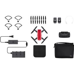 DJI CP.PT.000901 Spark Palm launch, Fly More Combo, Lava Red