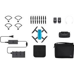 DJI CP.PT.000902 Spark Palm launch, Fly More Combo, Sky Blue