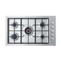 "36"" Flush Gas on Steel Cooktop"