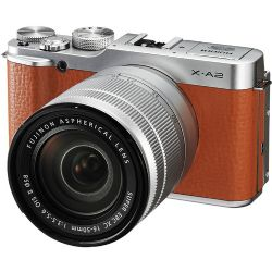 Fujifilm X-A2 Mirrorless Digital Camera with 16-50mm Lens Brown