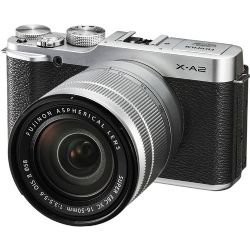 Fujifilm X-A2 Mirrorless Digital Camera with 16-50mm Lens Silver