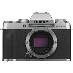 FUJIFILM X-T200 Mirrorless Digital Camera (Body Only, Silver)