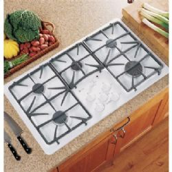 "JGP975WEKWW 36"" Gas Cooktop with 5 Sealed Burners - White"