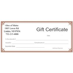 Gift Certificate - $50 Value