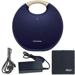 Harman Kardon Onyx Studio 6: Portable Wireless Speaker HKOS6BLUAM (Blue) + AOM Starter Bundle