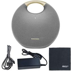 Harman Kardon Onyx Studio 6: Portable Wireless Speaker HKOS6GRYAM (Gray) + AOM Starter Bundle